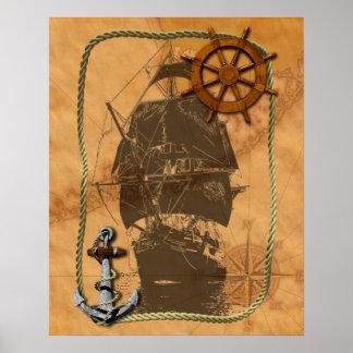 Navio de navigação histórico poster