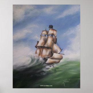 Navio de pirata posteres