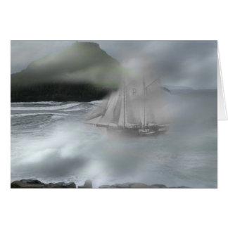 Navio do fantasma cartão