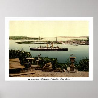 Navio do vapor da cortiça & do vintage de Queensto Poster