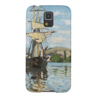 Navios de Claude Monet | que montam no Seine em Capinha Galaxy S5