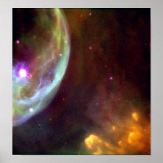 Nebulosa da bolha poster