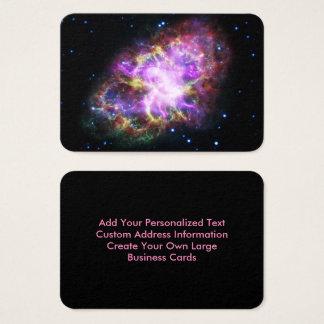 Nebulosa de caranguejo cor-de-rosa cartão de visitas
