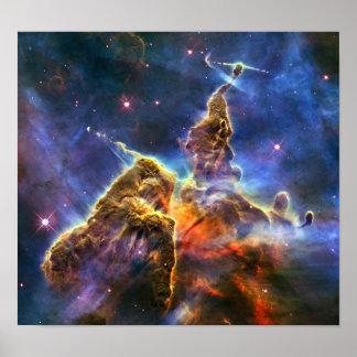 Nebulosa de Carina (telescópio de Hubble) Impressão