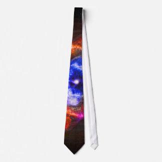 Nebulosa do olho de gatos do monograma gravata