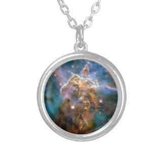Nebulosa místico de Carina da montanha Colar Banhado A Prata