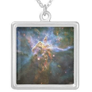 Nebulosa místico HH 901 HH 902 de Carina da Colar Com Pendente Quadrado