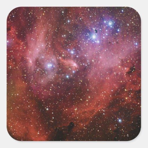 Nebulosa Running do CEN do Lambda da nebulosa da Adesivo Em Forma Quadrada