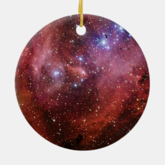 Nebulosa Running do CEN do Lambda da nebulosa da Ornamento De Cerâmica Redondo