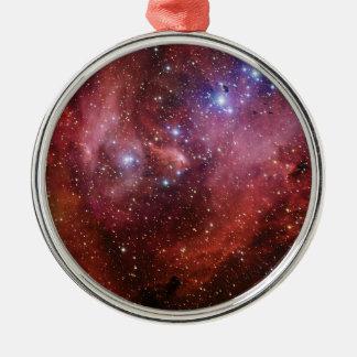 Nebulosa Running do CEN do Lambda da nebulosa da Ornamento Redondo Cor Prata