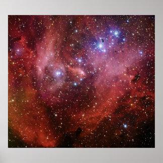 Nebulosa Running do CEN do Lambda da nebulosa da Pôster