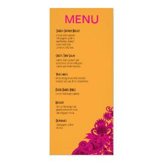 Nectarina asteca do fuschia do menu do comensal de convite personalizados