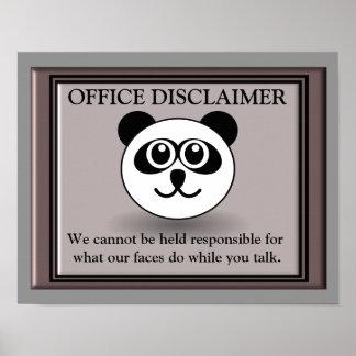 Negação do escritório - arte do poster pôster