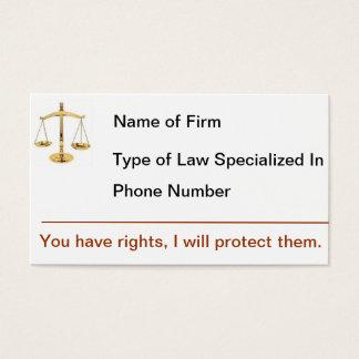 Negócio Card1 do advogado Cartão De Visitas