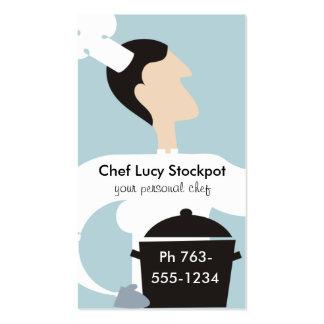 Negócio culinário do pote fêmea do estoque do modelo cartão de visita