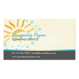 negócio da limpeza da casa cartão de visita