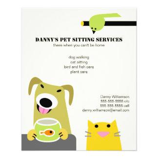 Negócio de assento do animal de estimação panfletos coloridos