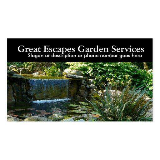 Negócio de jardinagem do Landscaper da água do jar Modelos Cartao De Visita