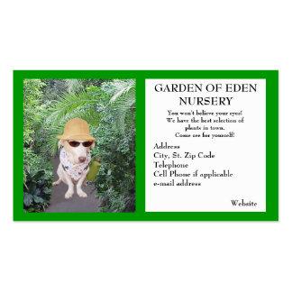 Negócio do berçário do jardim cartão de visita