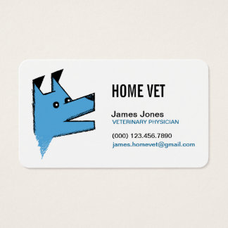 Negócio do veterinário do veterinário do cão de cartão de visita
