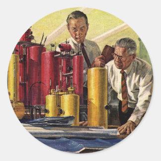 Negócio do vintage, arquitetos que trabalham em um adesivo