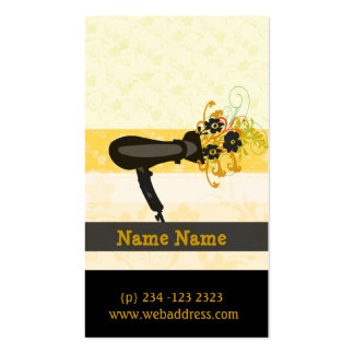 Negócio elegante do secador de cabelo do salão de  cartoes de visita