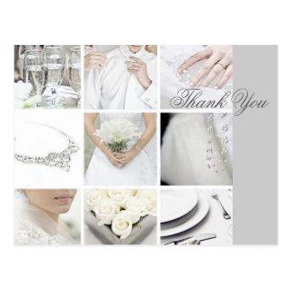negócio elegante moderno do planejador do casament cartão postal