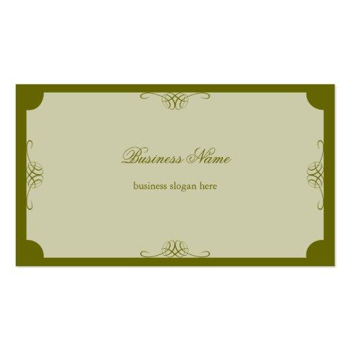 Negócio escuro simples elegante retro da verde aze modelo de cartões de visita