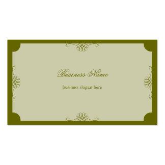 Negócio escuro simples elegante retro da verde cartão de visita