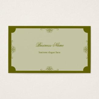 Negócio escuro simples elegante retro da verde cartão de visitas
