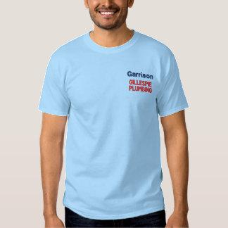 Negócio feito sob encomenda camisa bordada