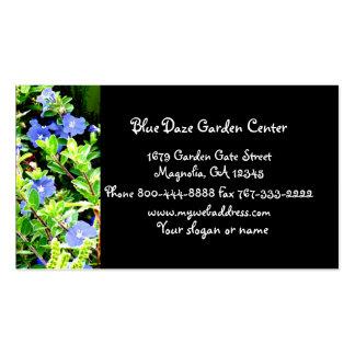Negócio floral do Daze azul Cartão De Visita