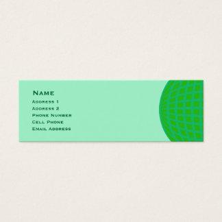 Negócio global verde-claro cartão de visitas mini
