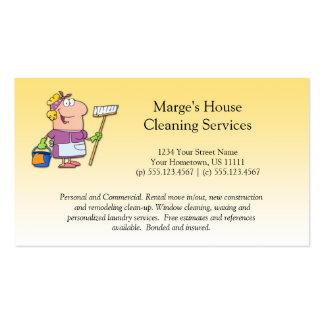 Negócio louro da senhora de limpeza lealdade da cartão de visita