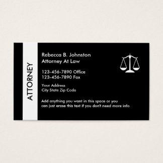 Negócio moderno do advogado cartão de visitas