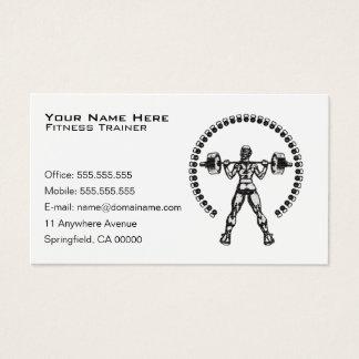 Negócio pessoal do instrutor da malhação cartão de visitas