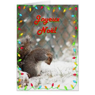 Neige do la do sur do brossage do écureuil de Joye Cartão Comemorativo