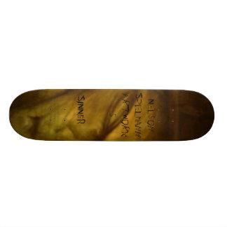 NElson enfrenta, ....... cara de queda, PECADOR, S Shape De Skate 18,1cm