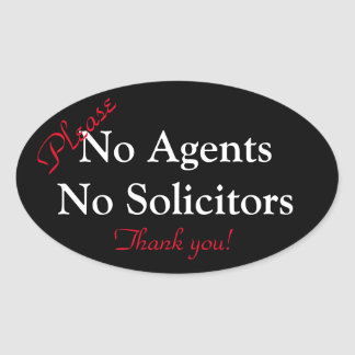 Nenhum agente/nenhuma etiqueta do procurador adesivo oval
