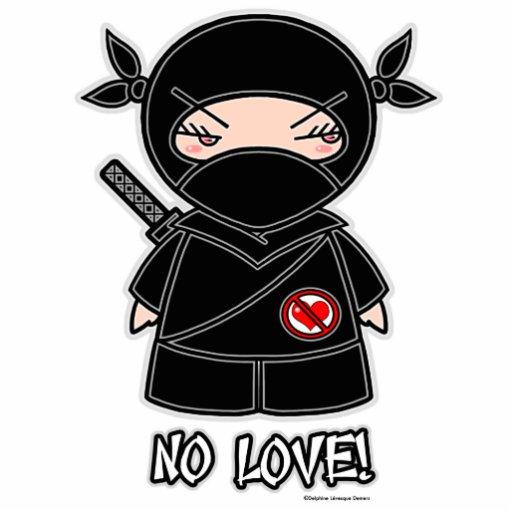 Nenhum amor! Escultura da foto de Ninja Escultura De Foto