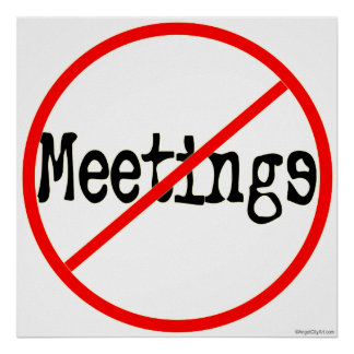 Nenhum dizer do humor do escritório das reuniões posters