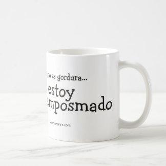 Nenhum Es Gordura Estoy Emposmado Caneca De Café