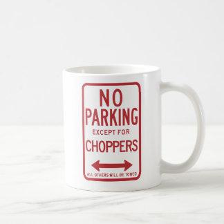 Nenhum estacionamento à exceção do sinal dos caneca de café