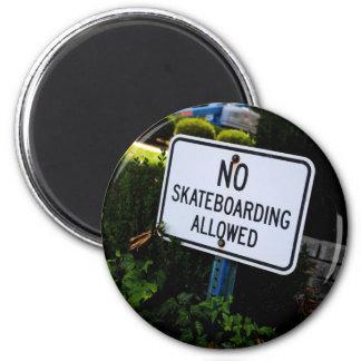 Nenhum ímã do sinal do embarque do skate ima