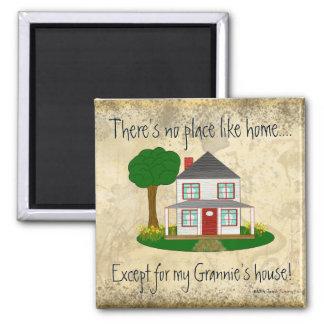 Nenhum lugar gosta em casa exceto o mag da casa da imã de refrigerador