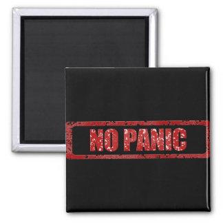 Nenhum pânico ímã quadrado