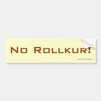 Nenhum Rollkur! Autocolante no vidro traseiro Adesivo Para Carro