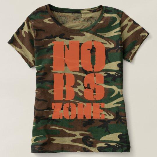 Nenhuma BS divide o t-shirt da camuflagem da