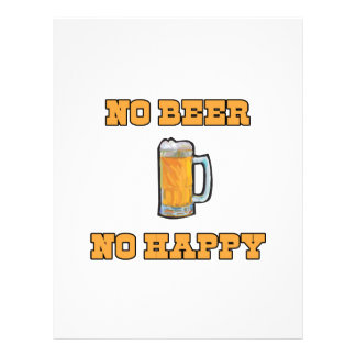 Nenhuma cerveja não feliz panfleto coloridos