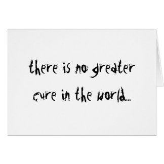 Nenhuma maior cura cartoes